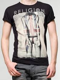 religion clothing handcuff union jack tattoo printed t shirt