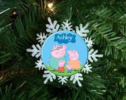 peppa pig ornament etsy