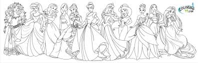 coloring pages disney princess color pages mycoloring free