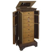 brown jewelry armoire powell masterpiece hand painted jewelry armoire 582 314