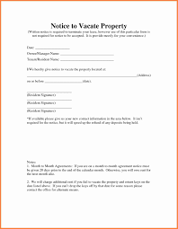 notice to vacate template letter receipt of payment template