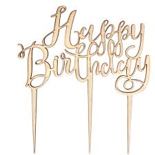 birthday cake topper wooden happy birthday cake topper hobbycraft