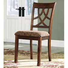 Upholstered Dining Chair Set Signature Design By Leahlyn Brown Cherry Upholstered