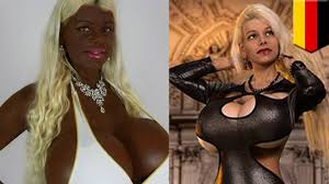martina big dark skin real life barbie woman blows 63 000 on 32s jugs and u0027african