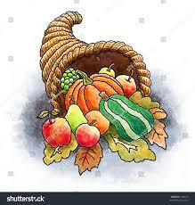 thanksgiving fruit basket thanksgiving basket fruits vegetables leaves stock illustration