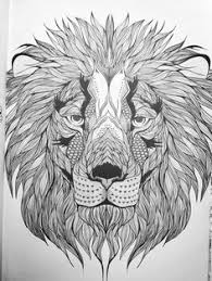 free coloring pages printables lion head drawing lions