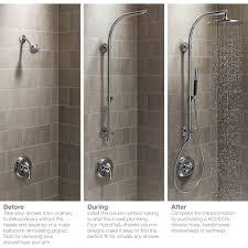 kohler k 45209 cp hydrorail polished chrome showerpipe shower