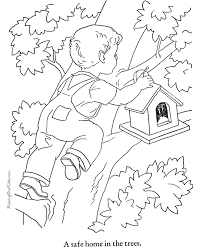 coloring pages houses kid color page of houses 005