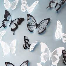 online get cheap 18pcs crystal 3d butterfly art wall sticker decal 18pcs black white crystal butterfly sticker art decal home decor wall mural stickers diy decal christmas wedding decoration gift
