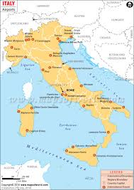 Northwestern Europe Map by Airports In Italy Italy Airports Map