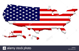 us map w alaska 3d rendering of usa map with flag overlay including alaska and