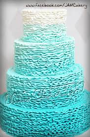 ombre ruffles wedding cake j a m cakery