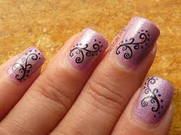 9 nails design images nail design ideas with slightly red color