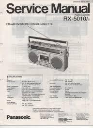 panasonic rx 5010 rx 5010c radio cassette radio service manual