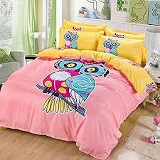 What Size Is A Twin Duvet Cover Amazon Com Sandyshow 2pc Owl Bedding For Children Twin Duvet