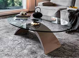Oval Glass Top Coffee Table Coffee Table Tudor By Tonin Casa