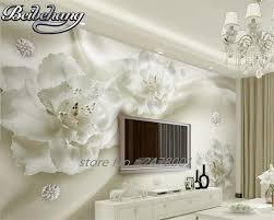 beibehang 3d wallpaper elegant white large silk flower wallpaper