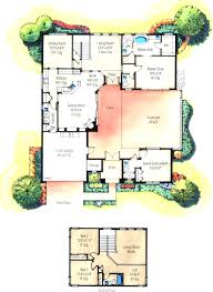 scintillating atrium house plans ideas best idea home design