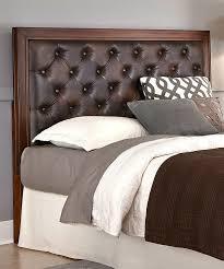 incredible fairfax tall leather bed headboard williams sonoma