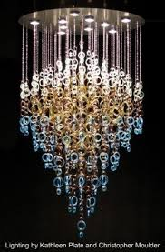 Cut Glass Chandeliers Recycled Glass Chandelier Foter