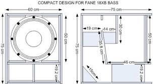 Bass Speaker Cabinet Design Plans Fane 18xb Speaker Box Building A Soundsystem Speakerplans Com