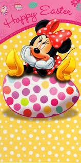 Minnie Mouse Easter Stickers Disney Happy Easter Greeting Card With Stickers Inside Cards