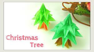 christmas crafts origami tree modular christmas tree paper