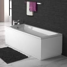 1600 x 700 small designer square single ended bath straight