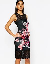 lipsy party dresses sale lipsy floral print pencil dress with