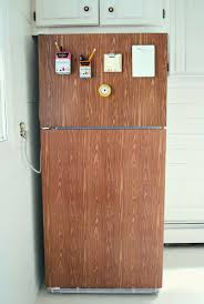 Kitchen Cabinet Contact Paper Faux Wood Grain Contact Paper Refrigerator Makeover I Love This