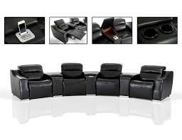 Modern Reclining Sectional Sofas Modern Theatre Reclining Sectional Sofa Leather Sectionals
