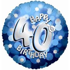 40th birthday balloons delivery blue sparkle party happy birthday 40th balloon delivered inflated in uk