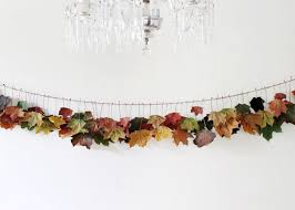 bringing some fall colours inside a garland with real