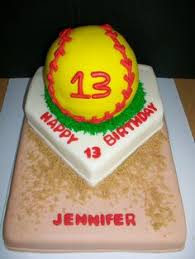 softball cake with bow cakes pinterest cake birthdays and