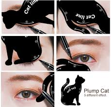 amazon com lke 2 in 1 cat eyeliner stencil matte pvc material