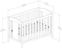 Standard Size Crib Mattress Dimensions by Dimensions For Crib Creative Ideas Of Baby Cribs