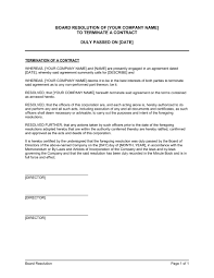mutual termination of contract template u0026 sample form biztree com