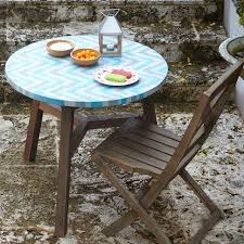 Mosaic Bistro Table Tiled Bistro Table Aqua Glass West Elm