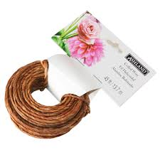 brown floral wire ashland naturally coiled wire