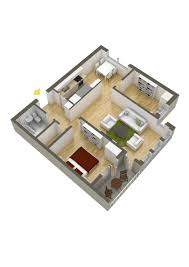 2 bedroom house plans 3d living room into kitchen two bath under