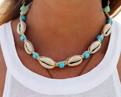 shell necklace images Hemp shell necklace cowrie shell necklace beach jewelry hemp jpg