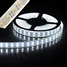 led daylight strip light led strip light 5050smd double row 600leds 5m dc12v waterproof with