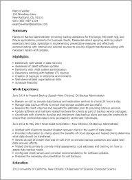 exchange server admininstrator cover letter