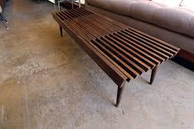 Slat Bench Vintage Expandable Slat Bench