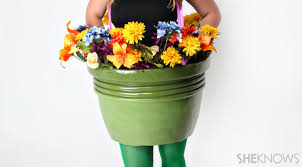 Sunflower Halloween Costume Flower Pot Halloween Costume