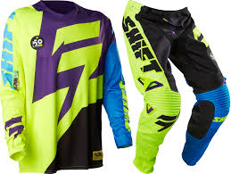 kids motocross gear combo shift 2016 faction purple yellow gear set dirt bike gear