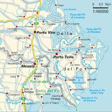 Map Of Mediterranean Europe by Map Po River Delta Italy Maps And Directions At Map