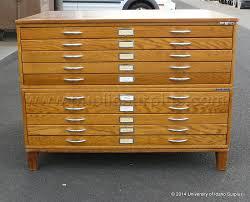 Wood Flat File Cabinet Public Surplus Auction 1227669