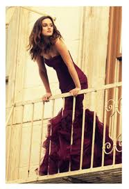 dress gossip leighton meester burgundy purple dress prom
