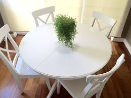 ikea masa beyaz ikea ikea ingatorp masa ve dört adet ingolf sandalye